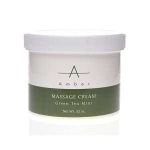 Amber Green Tea Mint Massage Cream 32 oz. Beauty