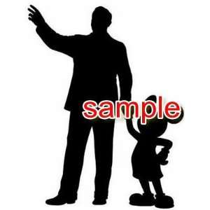 WALT DISNEY & MICKEY MOUSE WHITE 13 VINYL DECAL STICKER