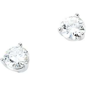 IceCarats Designer Jewelry Gift 14K White Gold Created Moissanite