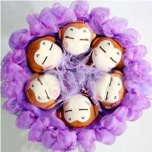 Forever Love Flower Bouquet of Dolls, 6 Monkeys Toys & Games
