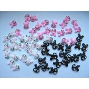 Nail Art 3d 60 Pieces Mix Bunny/ Rhinestone for Nails, Cellphones 1
