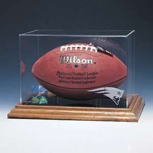 Zenith Football Display w/Brown Base NFL/Team Logo Sports