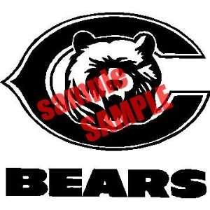 CHICAGO C BEARS TEAM NFL WHITE VINYL DECAL STICKER