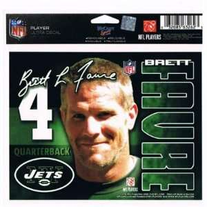 NFL NEW YORK JETS #4 BRET L. FAVRE STICKER DECAL QUARTERBACK VINTAGE