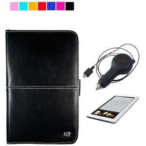 Barnes and Nobles Nook eReader Case + Retractable Car Charger + Screen