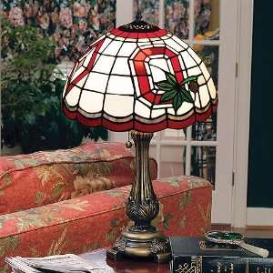 Ohio State Buckeyes Stained Glass Tiffany Table Lamp