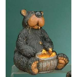 Bear Eating Honey Collectible Decoration Design Figurine Statue Home