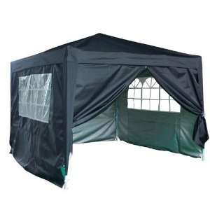 Black Ez Set Pop up Party Tent Canopy Gazebo Marquee with Sidewalls