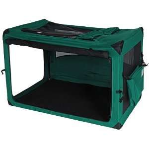 Deluxe Portable Soft Dog Crate Moss Green 42