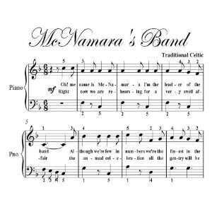 McNamaras Band Big Note Piano Sheet Music Traditional Celtic Books