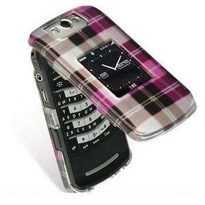 Hot Pink Checker Crystal Case Cover Protector (free ESD Shield Bag
