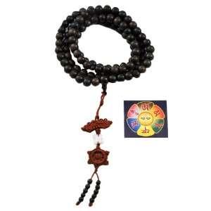 Buddha Carving 108 Prayer Beads Mala, Buddhist Beads, Tibetan Mala