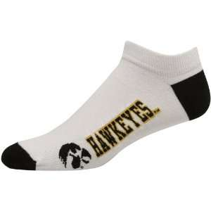 Iowa Hawkeyes White Logo & Name Ankle Socks:  Sports