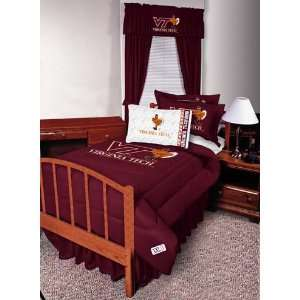 Tech Hokies Complete Bedding Set Queen Size Sports & Outdoors
