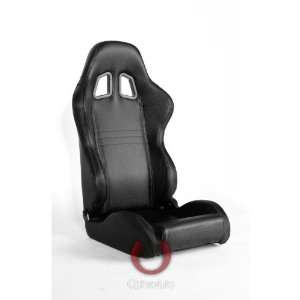 CPA1007 Black Carbon Fiber PVC Universal Racing Seats Automotive