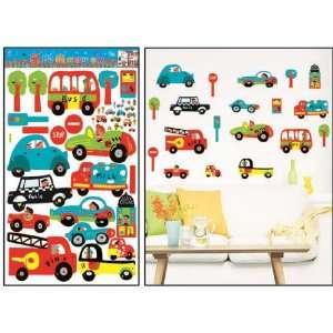 Room Deco (Tm) Hl5871 Cars on the Go Peel&stick Wall Art