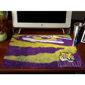 LSU Tigers 24 x 19 Mascot Desk Pad: Sports & Outdoors