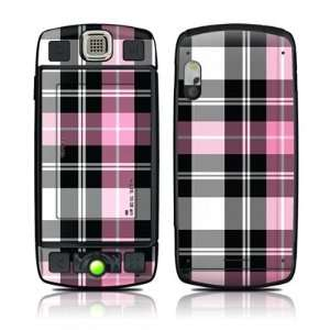 Pink Plaid Design Decal Sticker for T Mobile Sidekick LX Electronics