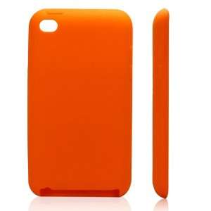 com High Quality Orange Soft Silicone Protective Case Cover for iPod