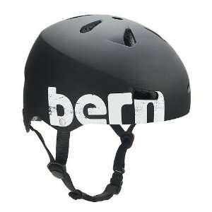 Bern Macon Hard Hat Mens Skate Helmet   X Large/Matte Black Distressed