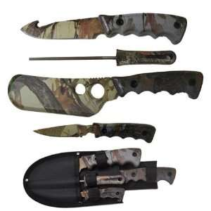com 5pc CAMO Big Game Hunting / Skinning Knife Set Sports & Outdoors