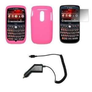 Premium Pink Silicone Gel Skin Soft Cover Case + LCD
