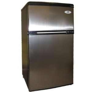 Star Double Door Refrigerator   Stainless Steel