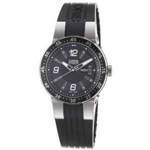 Team Black Dial and Stainless Steel Rubber Strap Watch Oris Watches