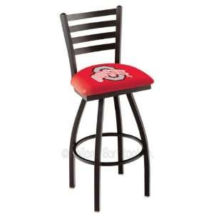 25 Ohio State Counter Stool   Swivel With Black Ring and