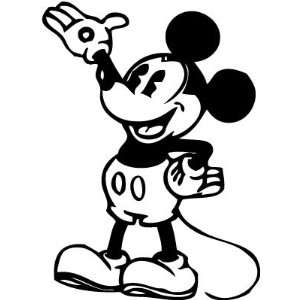 Disney Mickey Mouse Wave Steam Boat Willie 8 Inch Vinyl Decal Sticker