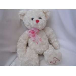 Valentine White Teddy Bear 15 Plush Toy Collectible