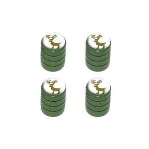 Christmas   Tire Rim Wheel Valve Stem Caps   Green Automotive