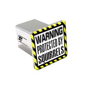 By Squirrels   Chrome 2 Tow Trailer Hitch Cover Plug Automotive