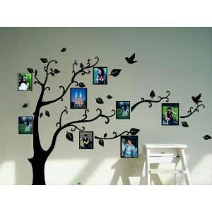 Black Photo Picture Frame Tree Vine Branch Removable Wall Decor Decal