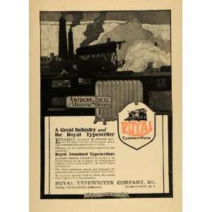 1917 Ad Royal Standard Typewriters American Radiators