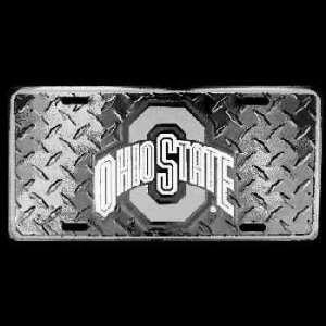 Ohio State University Car Tag Diamond Plate   Case Pack 48