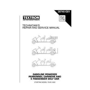 Service Manual for Gas Personnel Carrier and 5 Passenger Golf Car