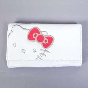 Hello Kitty Bifold Medium Wallet Coin Purse White Office