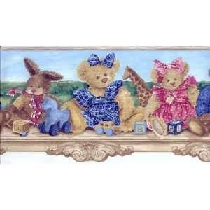 Dressed Up Teddy Bear Wallpaper Border: Home Improvement
