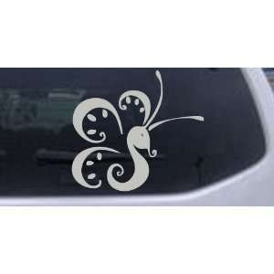 Butterflies Car Window Wall Laptop Decal Sticker    Silver 20in X 18
