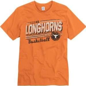 Texas Longhorns Orange Escalate Basketball Ring Spun T Shirt