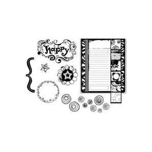 Carillo Cling Rubber Stamp Set happy Birthday Yummy