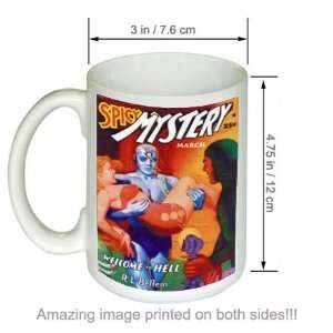 Spicy Mystery Stories Welcome To Hell Pulp Art COFFEE MUG