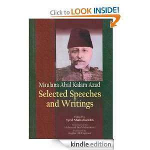 Maulana Abul Kalam Azad Selected Speeches and Writings Syed