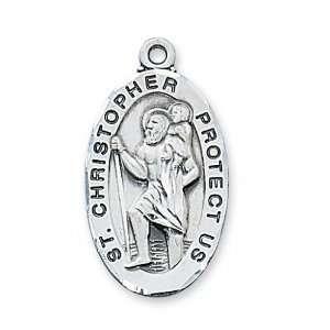St. Saint Sterling Silver St Saint Medal St. Saint Christopher L607SS
