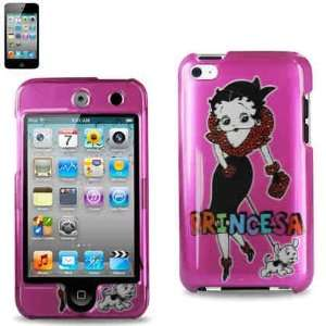 Betty Boop Hot Pink Princesa Snap on Case for Apple Ipod Touch 4 / 4th