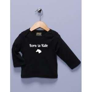 Born to Ride Black Long Sleeve Shirt Baby