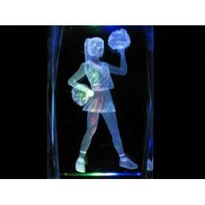 Cheerleader 3D Laser Etched Crystal