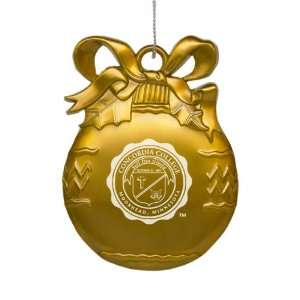Concordia College   Pewter Christmas Tree Ornament   Gold