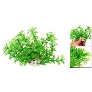 Como Green Plastic Short Aquarium Ornament Grass Fish Tank